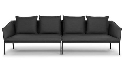 Article Palo Contemporary Outdoor Sofa Sula Gray