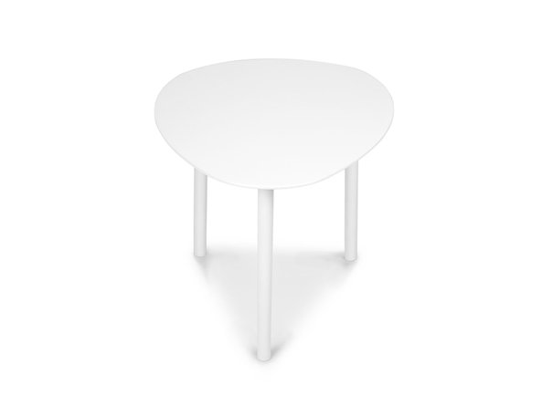 "Article Nebu 22"" Oval Coffee Table White"