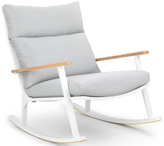 Article Eleya Rocking Chair Cera Gray & White