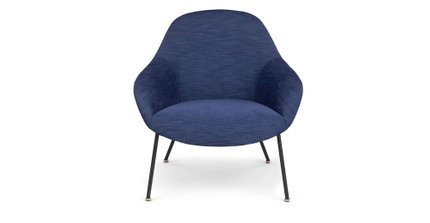 Savary Lounge Chair Lapis Blue
