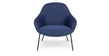 Savary Lounge Chair Lapis Blue