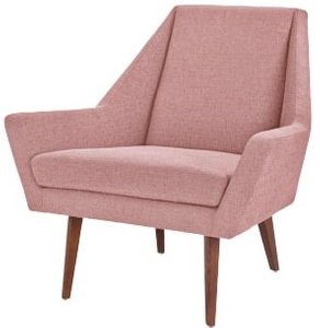 Article Angle Armchair Berry Pink And Walnut