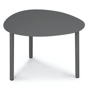 "Article Nebu 22"" Oval Coffee Table Dark Gray"