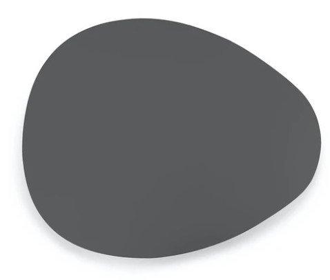 "Article Nebu 22"" Oval Coffee Table Dark Gray"