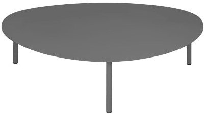 "Article Nebu 44"" Oval Coffee Table Dark Gray"