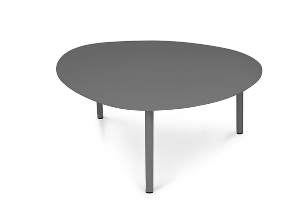 "Article Nebu 44"" Oval Coffee Table Dark Gray"