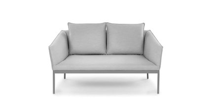 Palo Contemporary Outdoor Loveseat Polama Gray