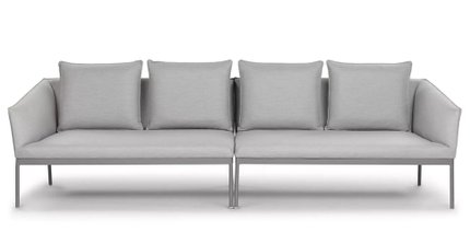 Palo Contemporary Outdoor Sofa Paloma Gray