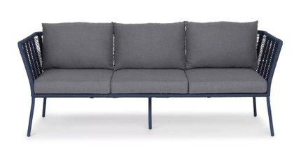 Caba Contemporary Outdoor Sofa Indigo Blue/Whale Gray
