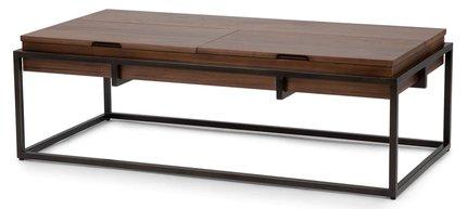 Oscuro Storage Coffee Table Bronze And Walnut