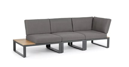 Kezia Contemporary Outdoor Modular Sofa Barnes Gray