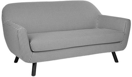 Article Gabriola Loveseat Charcoal Ivory