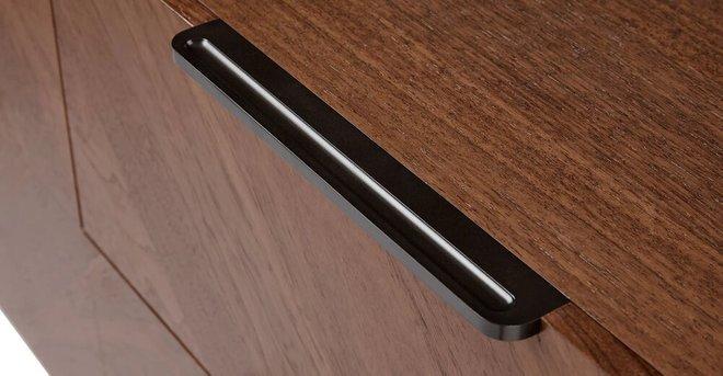 Article Nera 6 Drawer Low Double Dresser Walnut