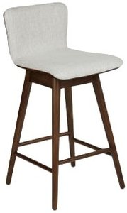 Article Sede Swivel Counter Stool Mist Gray & Walnut