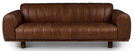 Texada Sofa Taos Brown And Walnut