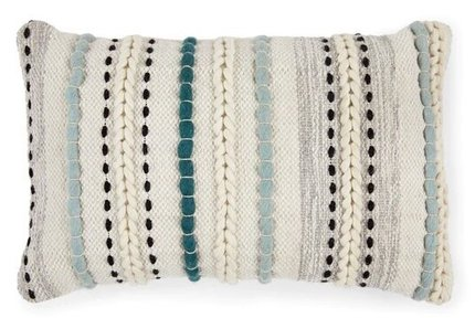 Article Stitch Boho Pillow Aqua
