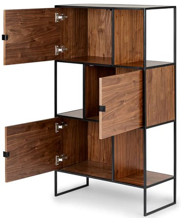 "Article Rictu 48"" Bookcase Walnut"