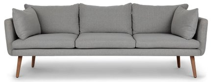 Celsa Sofa Stratus Gray And Walnut