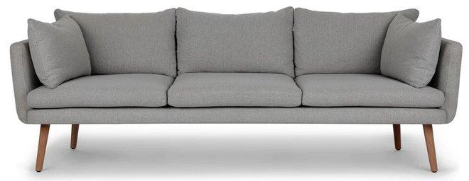 Celsa Sofa Stratus Gray And Walnut