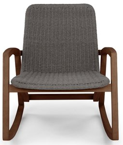 Article Lynea Rocking Chair Freckle Gray And Walnut