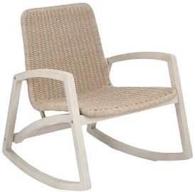Article Lynea Rocking Chair Brushed Taupe And Washed Oak