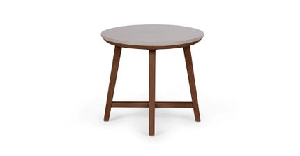 Olen Walnut Side Table Walnut And Concrete