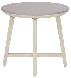 Article Olen Round Side Table Concrete & Washed Oak