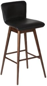 Article Sede Swivel Bar Stool Black & Walnut