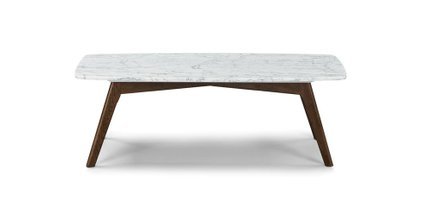 Vena Modern Rectangular Coffee Table Walnut