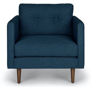 Article Anton Lounge Chair Twilight Blue
