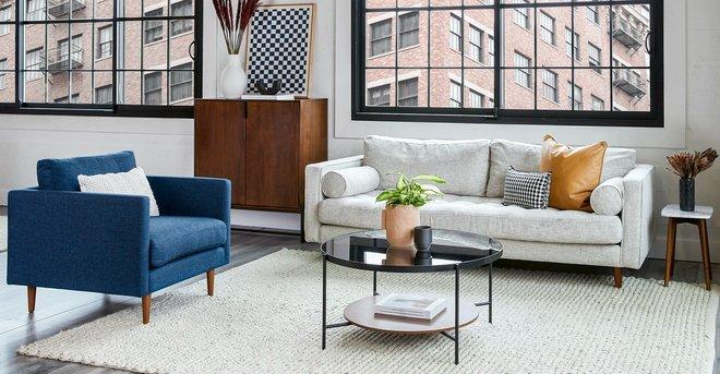 Article Anton Lounge Chair Twilight Blue