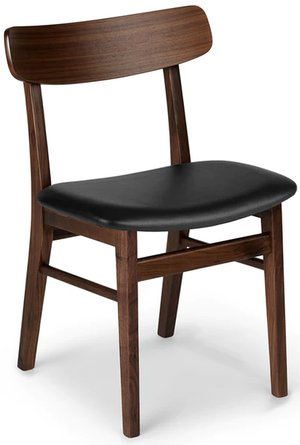 Article Ecole Dining Chair Walnut And Black