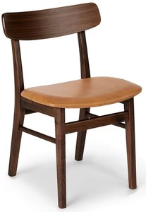 Article Ecole Walnut Dining Chair Toscana Tan