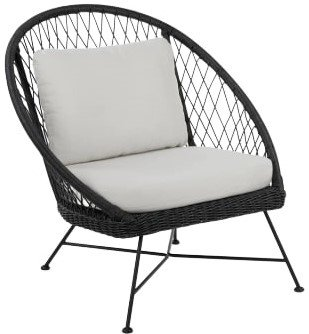 Article Aeri Lounge Chair Lily White And Black