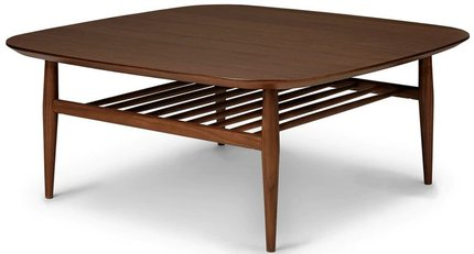 Lenia Square Coffee Table Walnut