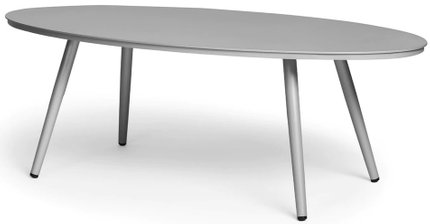 Article Halden Oval Coffee Table Light Gray