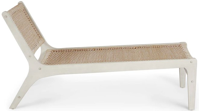 Article Reni Lounger Brushed Taupe And Washed Oak