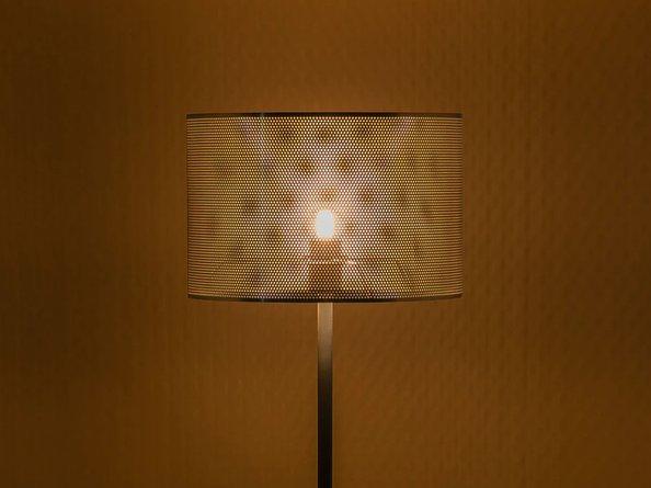 Perforate Floor Lamp Brass