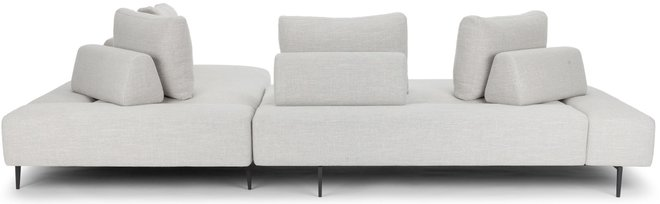 Article Divan Right Sectional Sofa Mist Gray