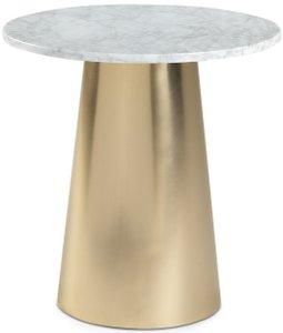 Article Tromso Side Table White & Brass