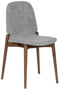 Article Albo Dining Chair Pebble Gray & Walnut