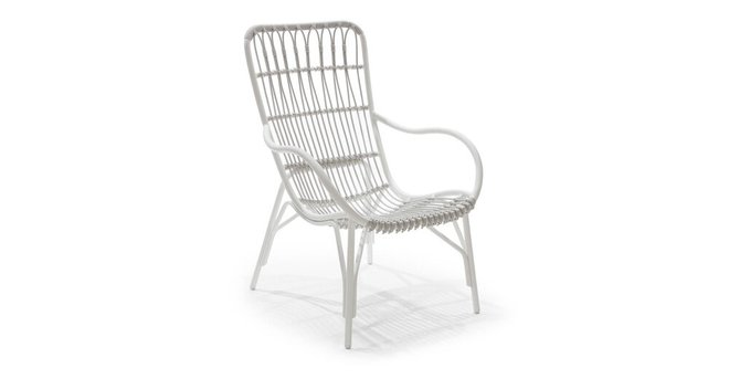 Medan Outdoor Lounge Chair White