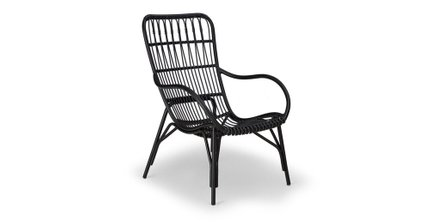 Medan Contemporary Outdoor Lounge Chair Graphite