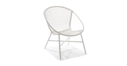 Medan Contemporary Lounge Chair White
