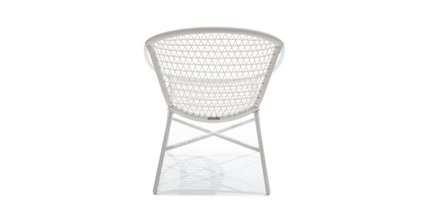 Medan Contemporary Outdoor Lounge Chair White