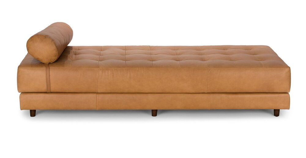 Awesome Seven Mid Century Modern Daybed Charme Tan Alphanode Cool Chair Designs And Ideas Alphanodeonline