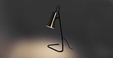 Torch Table Lamp/Task Lamp Black