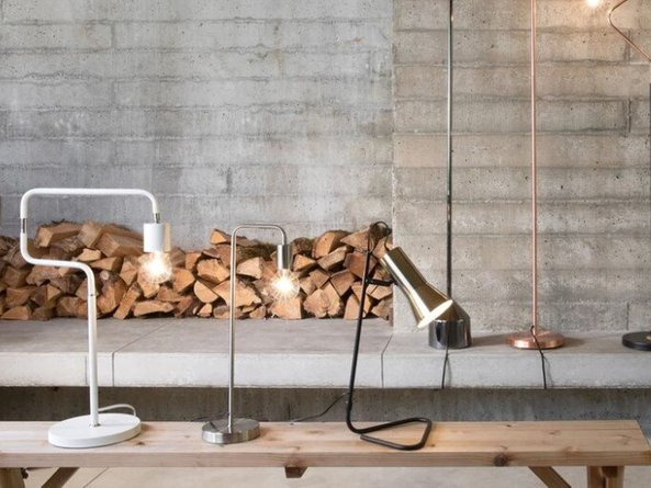 Article Torch Table Lamp/Task Lamp Black