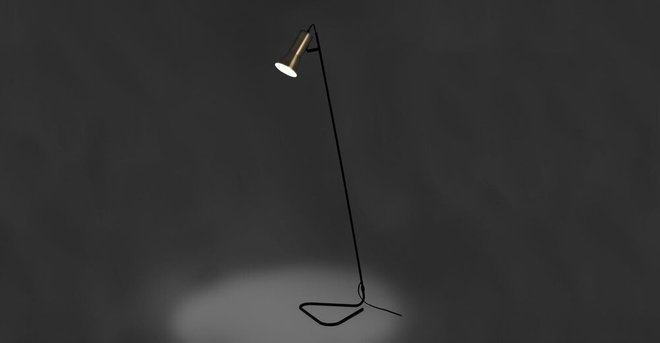 Torch Floor Lamp Black