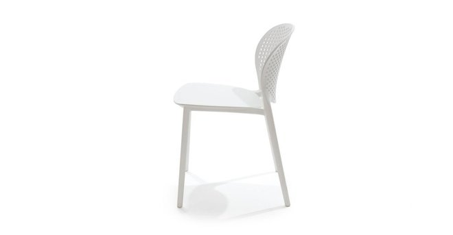 Article Dot Contemporary Outdoor Dining Chair White (Set of 2)